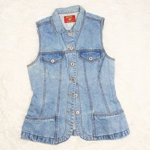 Baxis Vintage Sleeveless Denim Light Wash Vest